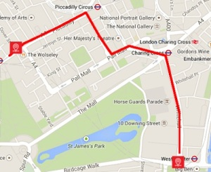 New years day parade 2021 route map