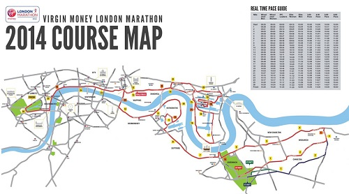 All You Need To Know About The London Marathon Sunday April - London marathon map