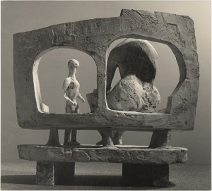 2 Henry Moore_Mother and Child against an Open Wall (plaster maquette for UNESCO commission 1956-57) 1956