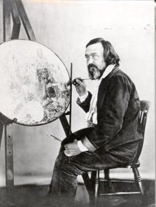 Richard Dadd at his easel, 1850s