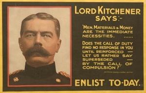 "161115WhitWWIb103 British Kitchener ""Enlist To-Day"" poster"