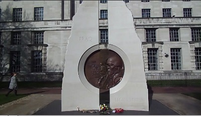 The Iraq And Afghanistan Memorial In Victoria Embankment Gardens